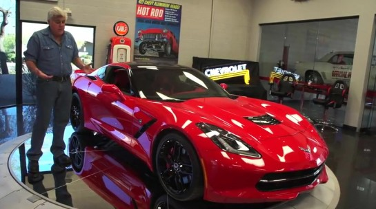 jay leno corvette stingray 545x304 at Jay Leno Meets 2014 Corvette Stingray   Video