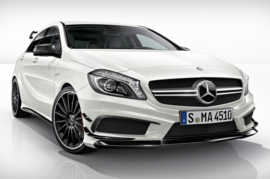 mercedes a45 amg edition 1 revealed. Black Bedroom Furniture Sets. Home Design Ideas