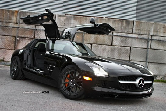 Black on Black SLS 1 545x363 at Gallery: Black on Black ADV1 Mercedes SLS
