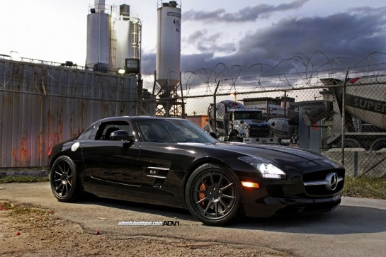 Black on Black SLS 2 545x363 at Gallery: Black on Black ADV1 Mercedes SLS