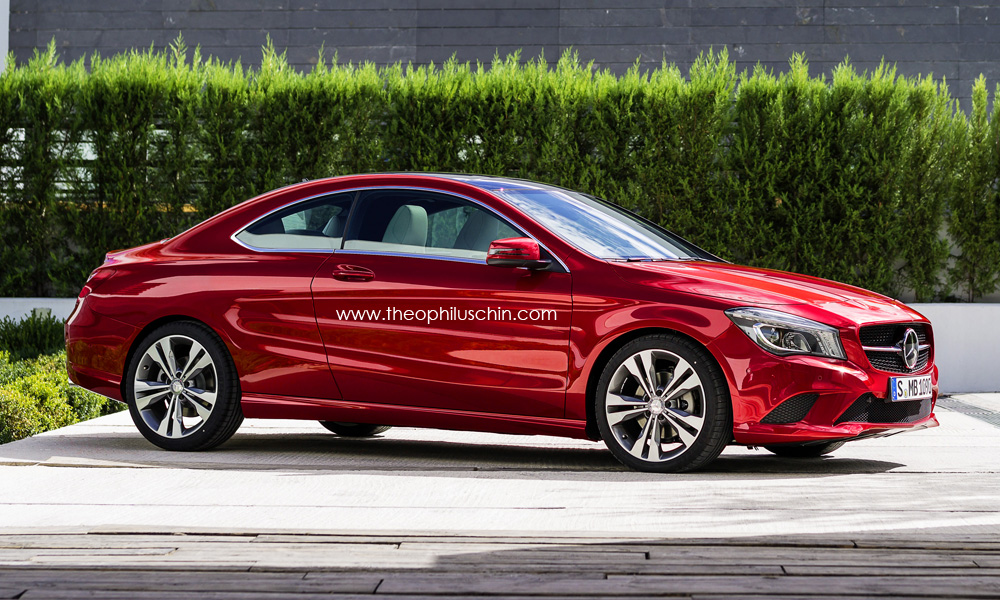 renderings mercedes cla coupe. Black Bedroom Furniture Sets. Home Design Ideas