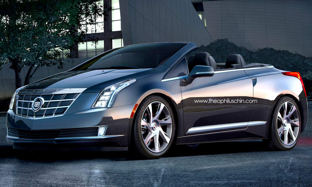 rendering cadillac elr convertible. Black Bedroom Furniture Sets. Home Design Ideas