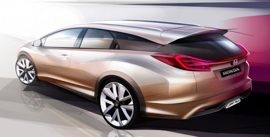 Civic Wagon concept 545x278 at Honda Civic Wagon Concept to Make Geneva Debut
