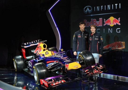 Infiniti Red Bull Racing RB9 4 545x383 at 2013 Infiniti Red Bull Racing RB9 F1 Car Unveiled