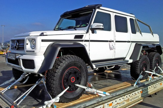 Mercedes G63 AMG 6x6 Pickup 0 545x363 Scooped: Mercedes G63 AMG 66 Pickup