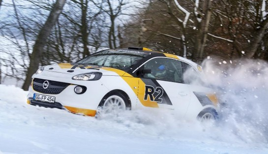 Opel Adam R2 Rally Car 1 545x313 at Opel Adam R2 Rally Car Announced
