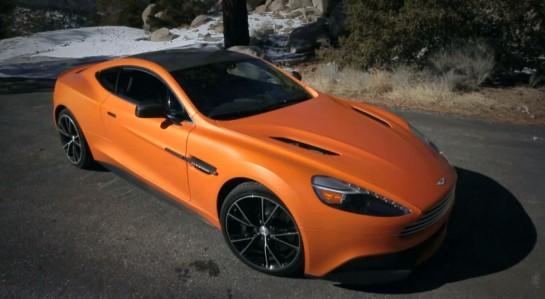 Orange Vanquish Review 545x299 at MotorTrend Video: 2014 Aston Martin Vanquish Review