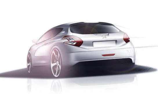 Peugeot 208 Sketch 545x325 at Geneva Preview: Peugeot 208 HYbrid FE