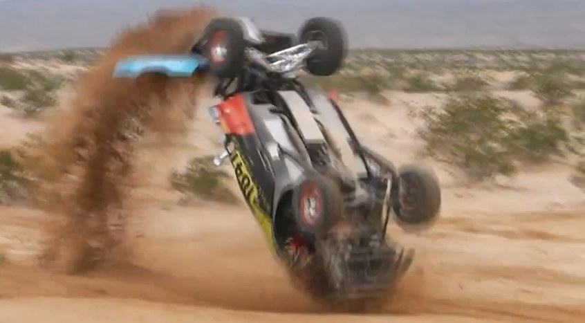 That s the Spirit Rally Fighter Flips Over Keeps Racing