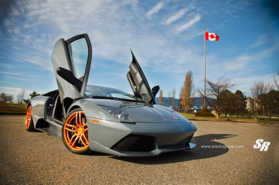 Rose Gold Lambo 1 545x362 at Gallery: Lamborghini Murcielago on Rose Gold PUR Wheels