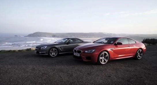 SL63 vs M6 545x296 at Chris Harris Video: Mercedes SL63 vs BMW M6