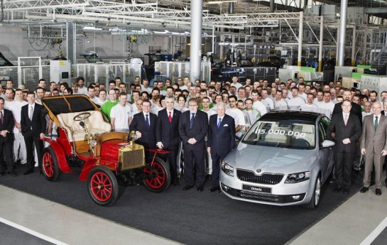 Skoda 15 million 545x345 Skoda Celebrates its 15th Million Production Vehicle