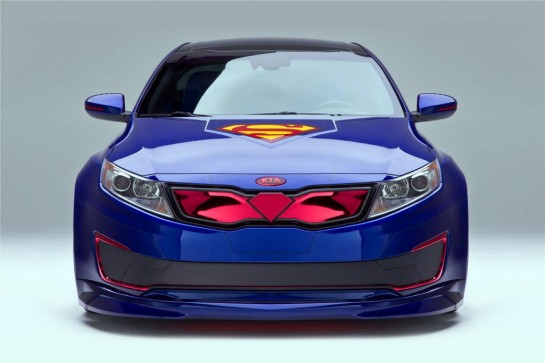 Superman themed Kia Optima 1 545x363 at Superman themed Kia Optima Revealed in Chicago