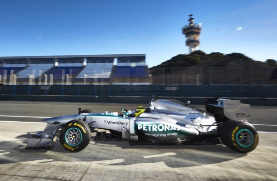 mercedes f1 w04 545x357 at Mercedes AMG Petronas F1 W04 Unveiled at Jerez