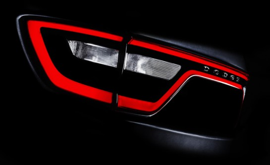 2014 Dodge Durango teaser 545x334 at 2014 Dodge Durango Teased Ahead of New York Debut
