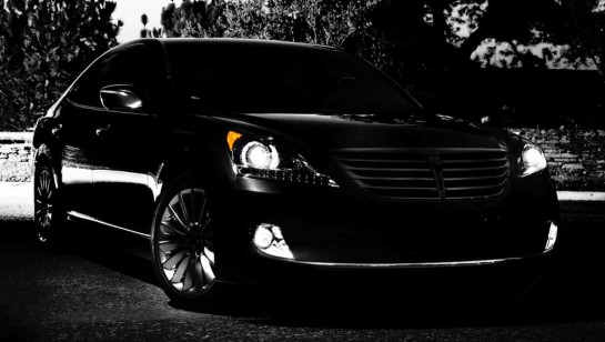 2014 Hyundai Equus Teaser 545x308 at 2014 Hyundai Equus teased for New York Auto Show