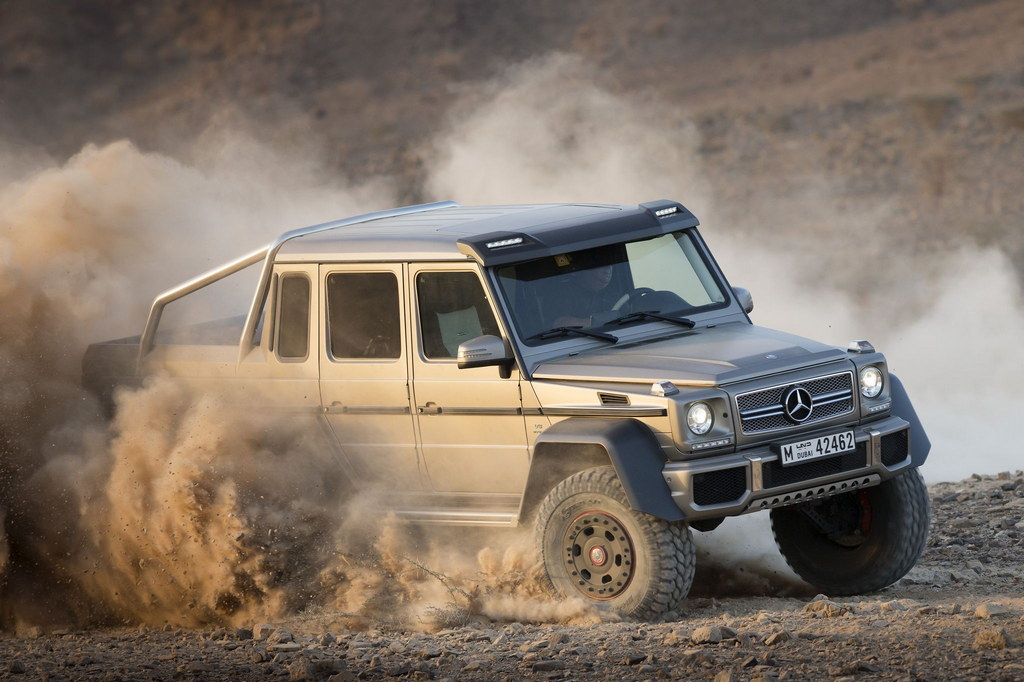 Mercedes g63 amg 6 6 official pictures and details for Mercedes benz g class 6x6 price