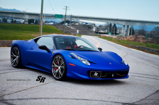 Blue Ferrari 458 Italia on PUR 4 545x359 at Gallery: Blue Ferrari 458 Italia on PUR Wheels