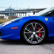 Blue Ferrari 458 Italia on PUR 5 175x175 at Gallery: Blue Ferrari 458 Italia on PUR Wheels