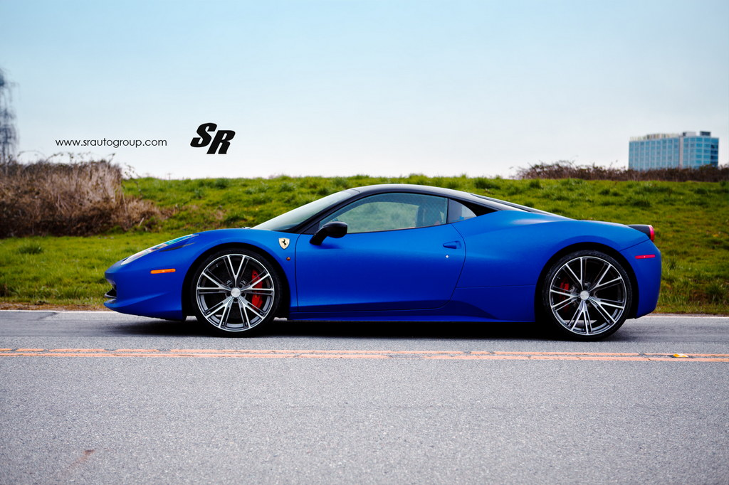Gallery Blue Ferrari 458 Italia On Pur Wheels
