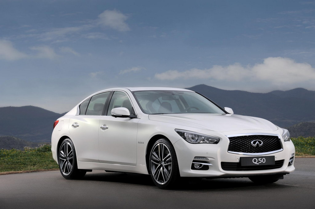 2013 geneva infiniti q50 hybrid and diesel. Black Bedroom Furniture Sets. Home Design Ideas