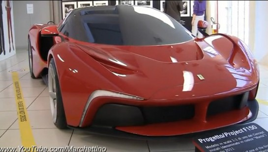 LaFerrari Concept Manta 545x310 at LaFerrari Concept Manta at Ferrari Exhibition   Video