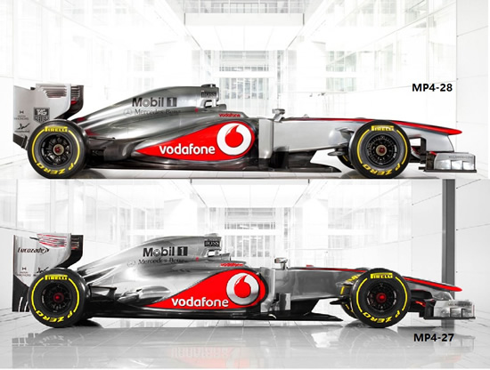 MP4 28 at The Top Dog's Preparations For The 2013 F1 Season