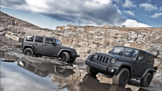 Matte Grey Jeep Wrangler 1 545x306 at Matte Grey Jeep Wrangler by Kahn Design