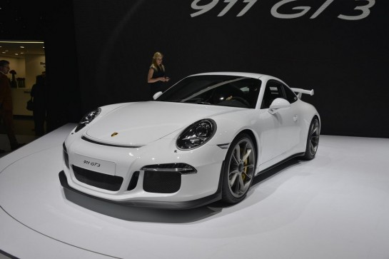 Porsche 991 GT3 1 545x363 at Porsche 991 GT3 Unveiling at Geneva   Video