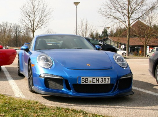 Porsche 991 GT3 Spotted 1 545x406 at Porsche 991 GT3 Spotted Out in the Wild