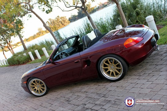 Porsche Boxster on HRE Wheels 3 545x363 at Gallery: First Gen Porsche Boxster on HRE Wheels