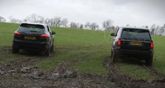 Range Rover v Porsche Cayenne 545x293 at Off road Challenge: Range Rover vs Porsche Cayenne