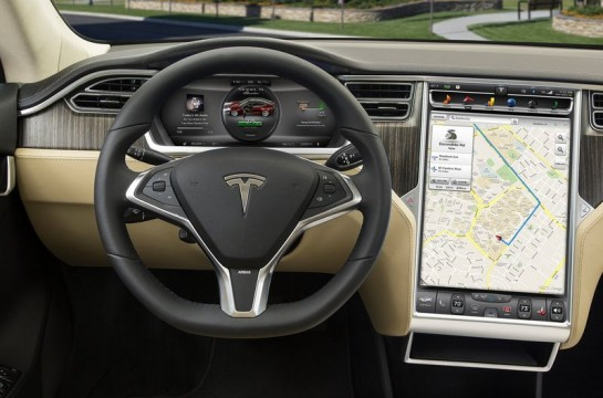 Tesla Model S screen 545x360 at Tesla Model S 17 Touchscreen Detailed in Video