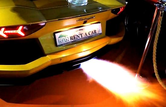 Lamborghini Aventador Fire 8