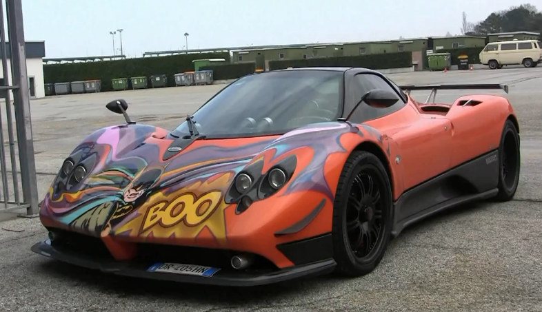 Batman Zonda 545x314 At Batmans Pagani Zonda Spotted In The Wild!