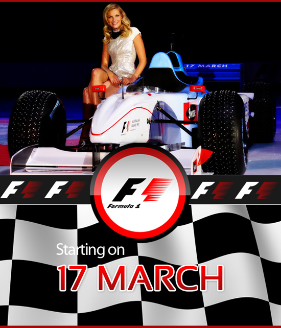f1 2013 girl on car at The Top Dog's Preparations For The 2013 F1 Season