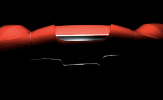 ferrari f150 teaser unusual 545x334 at Ferrari F150 Tailpipes Revealed in New Teaser