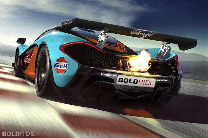 Renderings Mclaren P1 In Gulf Livery