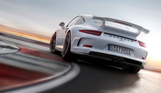 porsche gt3 action 545x315 at Porsche 991 GT3 Hits the Track in New Promo Video