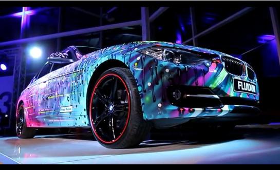 BMW 3 Series FLUIDUM Art Car 1 545x331 at BMW 3 Series FLUIDUM Art Car by Andy Reiben