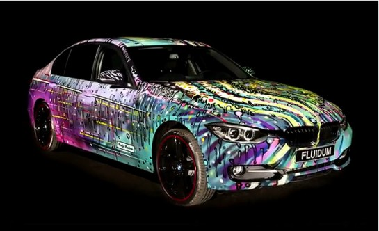 BMW 3 Series FLUIDUM Art Car 3 545x332 at BMW 3 Series FLUIDUM Art Car by Andy Reiben