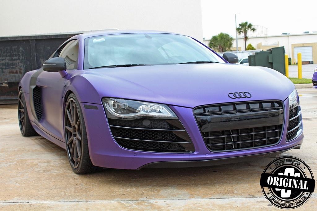 matte purple audi r8 by superior auto design. Black Bedroom Furniture Sets. Home Design Ideas
