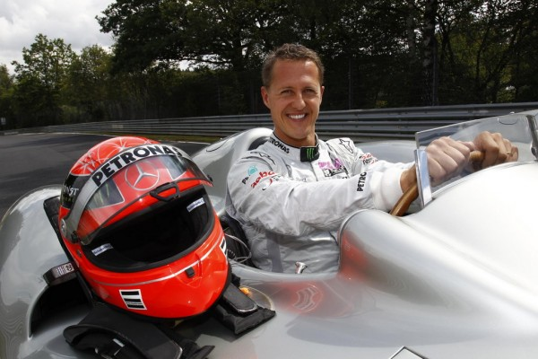 Michael Schumacher at Ring 600x400 at Michael Schumacher to Drive a 2011 Silver Arrow on the Nurburgring