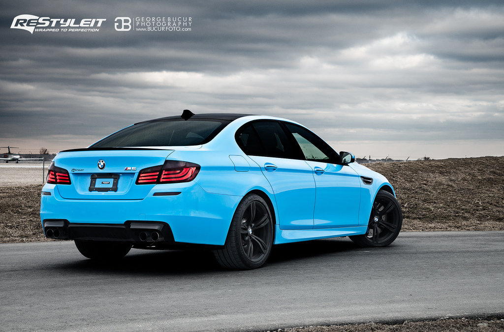 BMW M5 F10 Wrapped in Olympic Blue by ReStyleIt - Motorward