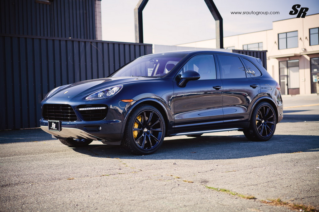 blue on blue porsche cayenne turbo s on bbs wheels. Black Bedroom Furniture Sets. Home Design Ideas