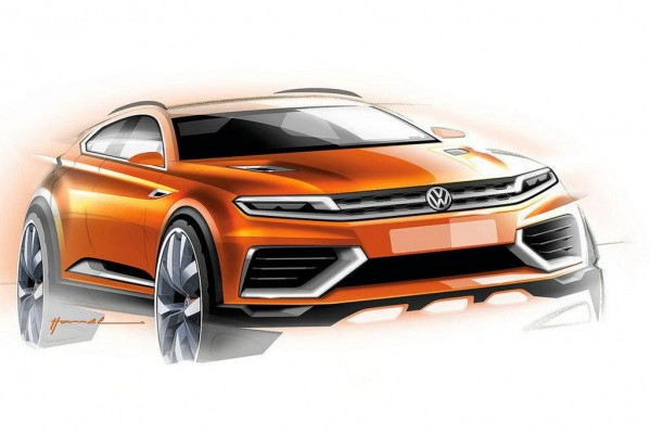 Volkswagen CrossBlue Coupe Concept 1 600x400 at Volkswagen CrossBlue Coupe Concept First Pictures