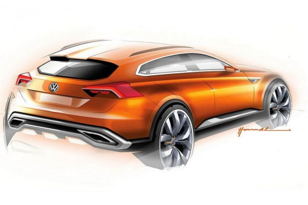 Volkswagen CrossBlue Coupe Concept 2 600x400 at Volkswagen CrossBlue Coupe Concept First Pictures