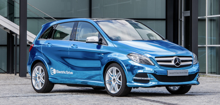 Mercedes b class electric drive walkaround video for Class b electric motor