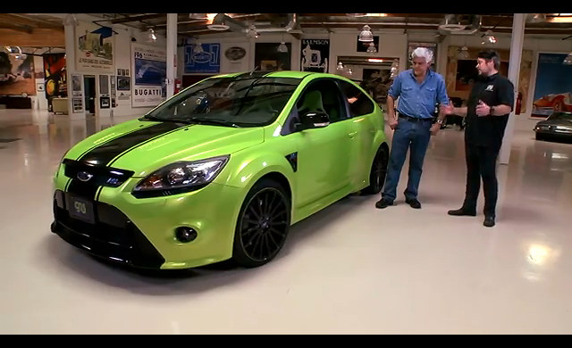 tricked out ford focus rs at jay leno 39 s garage video. Black Bedroom Furniture Sets. Home Design Ideas