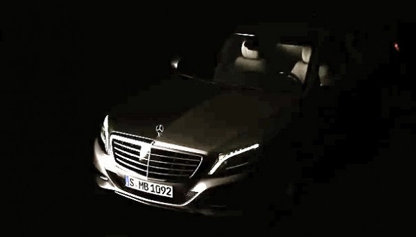 2014 Mercedes S Class OfficialTeaser 600x342 at 2014 Mercedes S Class Officially Teased   Video